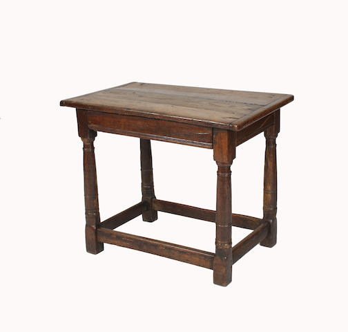 An oak side table Constructed from 17th Century timbers