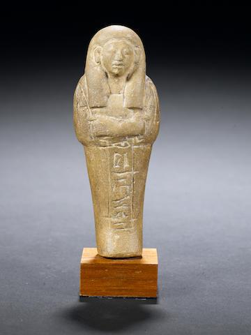 An Egyptian limestone shabti Fen-djet