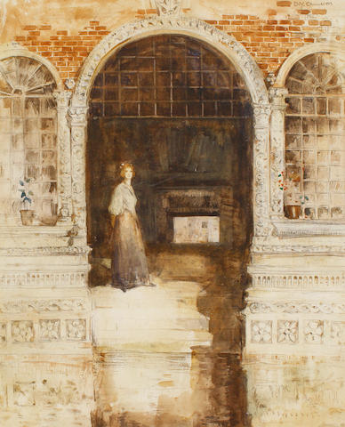 Sir David Young Cameron, RA RSA RWS RSW RE (British, 1865-1945) Venetian Doorway