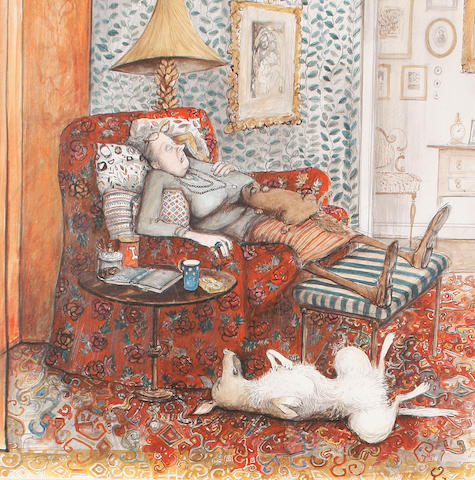 Susan Macartney-Snape (Tanzanian, born 1957) Afternoon nap