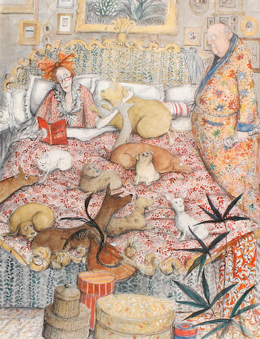 Susan Macartney-Snape (Tanzanian, born 1957) No room on the bed