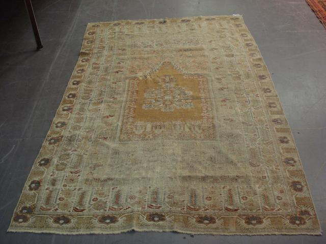 An Anatolian silk prayer rug 217cm x 132cm