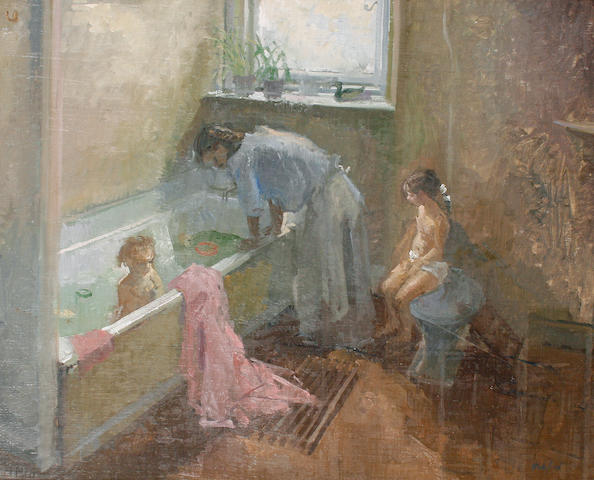 Peter Kuhfeld (British, born 1952) Bathtime