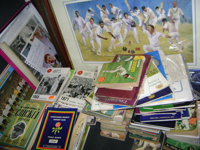 A large collection of sporting memorabilia
