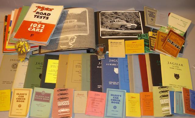A lot of Jaguar technical literature,