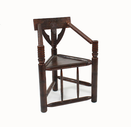 A 19th Century oak turner's chair