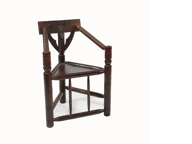 A 19th Century oak turner's chair