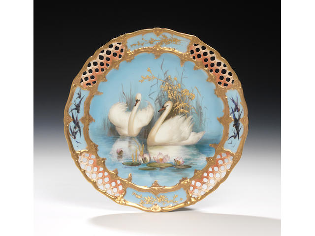 A good Royal Worcester cabinet plate by Charley Baldwyn, dated 1904