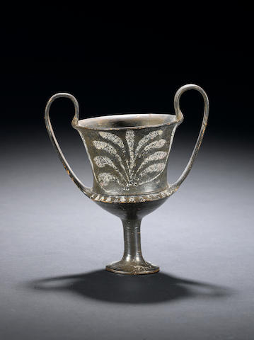 A Greek terracotta kantharos