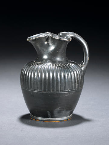 A Greek black-glazed oinochoe