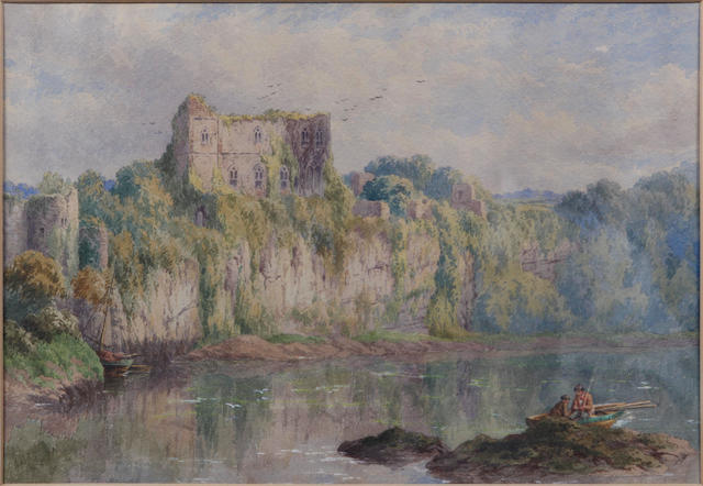Attributed to John Steeple (British, 1823-1887) Chepstow Castle