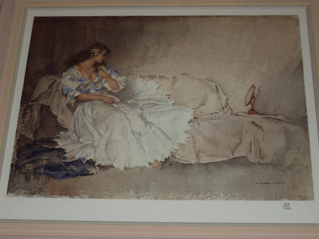 Sir William Russell Flint R.A., P.R.W.S. (British, 1880-1969) 'The Looking Glass'