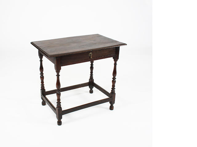 A Queen Anne oak side table, circa 1710