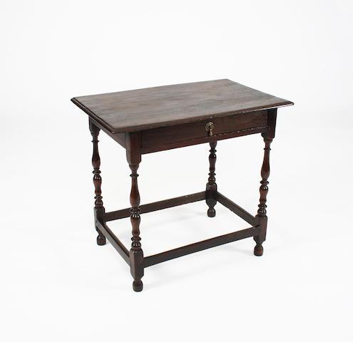 A Queen Anne oak side table, circa 1710