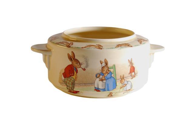 Bunnykins A Royal Doulton Barbara Vernon 'Bunnykins' bowl, Circa 1937-1953