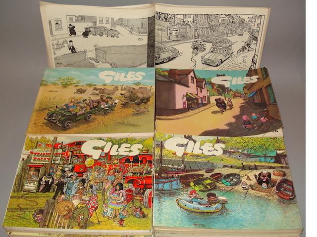 A collection of Giles cartoon annuals,