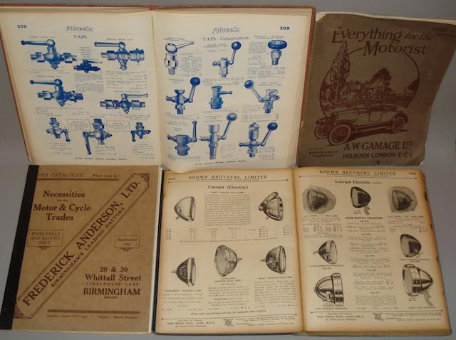 Four 1920s motor factors catalogues,