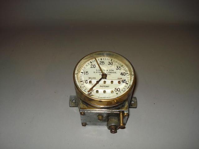 A 50mph speedometer by S. Smith & Son, circa 1910,