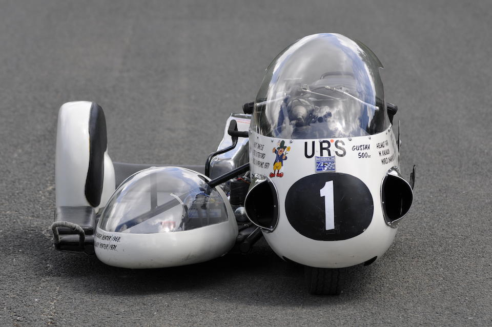The ex-Helmut Fath, Horst Owesle, 1968 and 1971 World Championship-winning,1966 URS 498cc Racing Sidecar Outfit Engine no. 'GUSTAV'