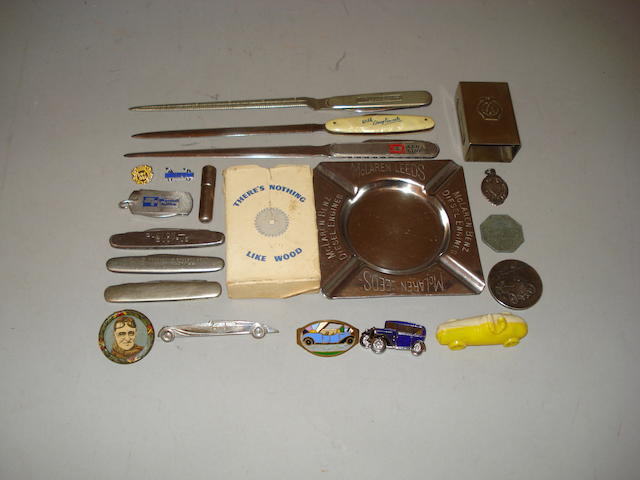 A lot of small automobilia collectables,