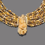 A gem-set torsade necklace, by Eileen Coyne