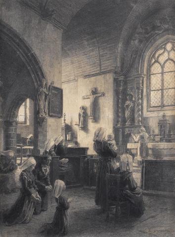 Leon Augustin L'hermitte (French, 1844-1925) Chapelle de Pont Christ