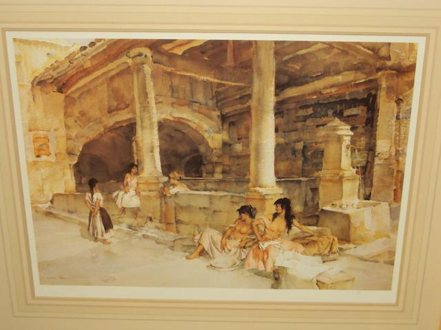 Sir William Russell Flint R.A., P.R.W.S. (British, 1880-1969) 'Gossip St. Jeannet',