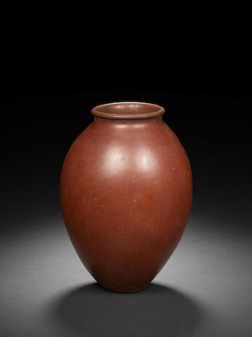 An Egyptian Predynastic red burnished ware jar
