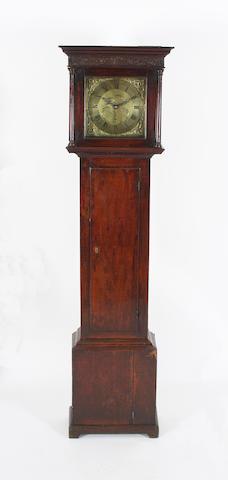 An early George III oak-cased 30-hour brass dial longcase clock John Rouckcliffe, Bridgwater