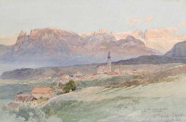 Edward Theodore Compton (British, 1849-1921) St Pauls, Eppan