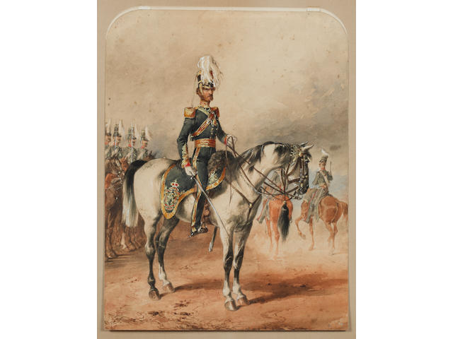 Michael Angelo Hayes. R.H.A. (1820-1877) Watercolour Portrait Of Lieutenant-Colonel Lord George Augustus Frederick Paget 4th (Queen's Own) Light Dragoons, Dublin 1850