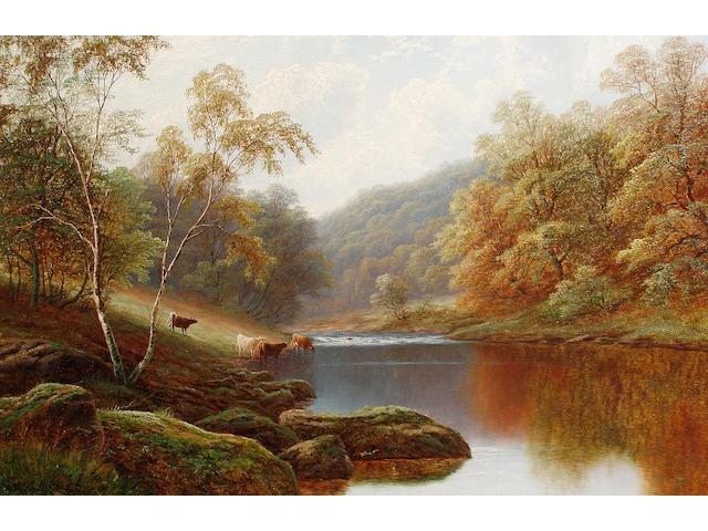 William Mellor (British, 1851-1931) Cattle watering