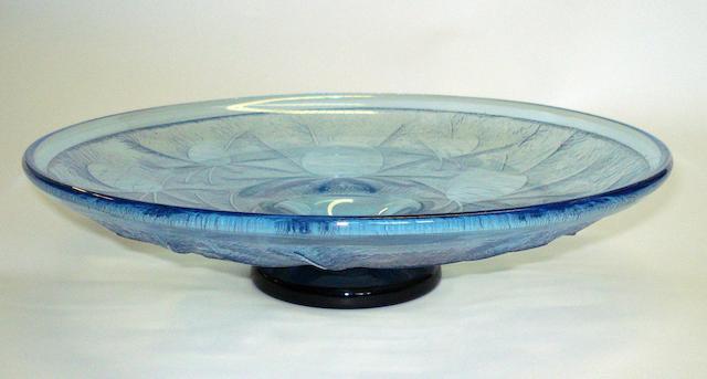 A 'Le Verre Francais' glass pedestal dish Circa 1920