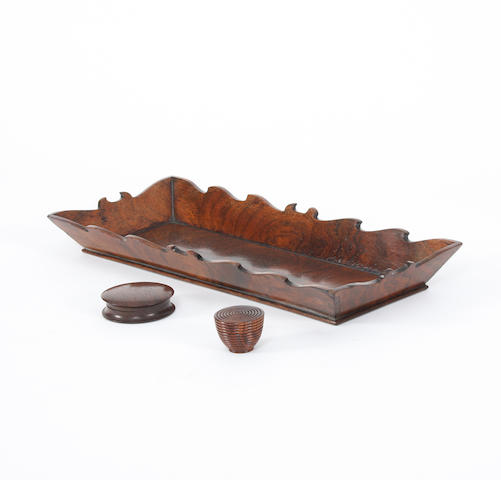 A Regency rosewood pen-tray