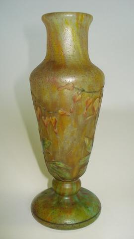 A Daum cameo glass vase  Circa 1900-1910