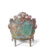 Alessandro Mendini for Studio Alchymia, 'Proust's Armchair', designed and executed circa 1978 hand painted decoration to readymade chair