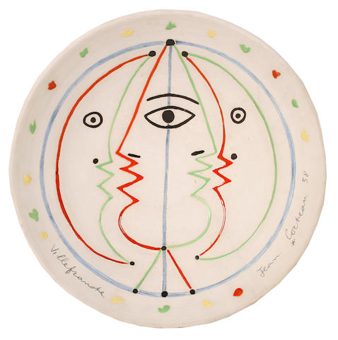 Jean Cocteau (French, 1889-1963) Astrologie, conceived in 1958 35.5cm (14in)(diameter)