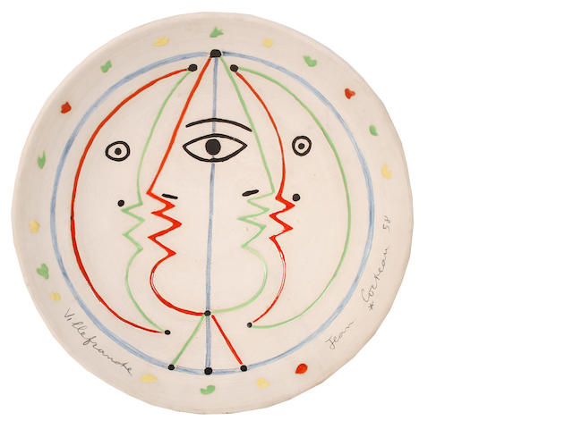 Jean Cocteau (French, 1892-1963) Astrologie, conceived in 1958 35.5cm (14in)(diameter)