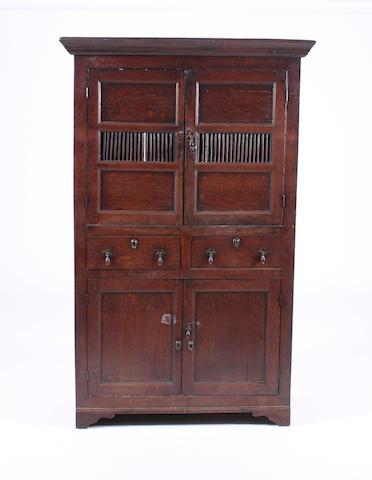 A George III oak food cupboard Welsh, probably Caernarfonshire, circa 1800
