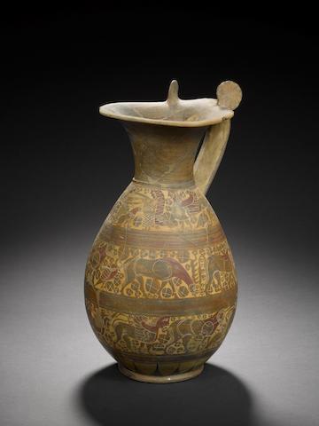 An etrusco-Corinthian olpe