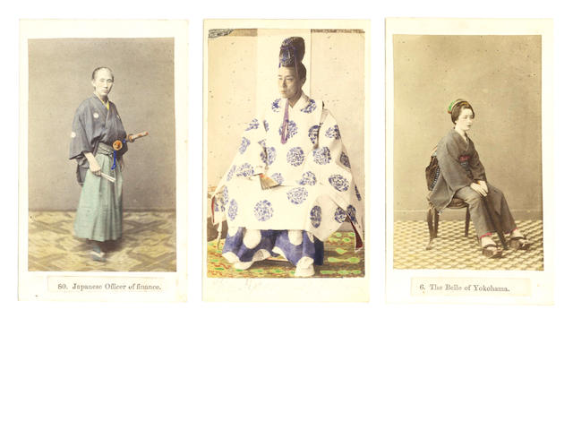 YOKOHAMA An early album of 118 images, of which the most important The Dare by Felice Beato, including a panorama
