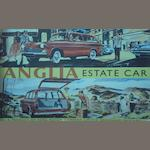 A large Ford Anglia Estate display panel,