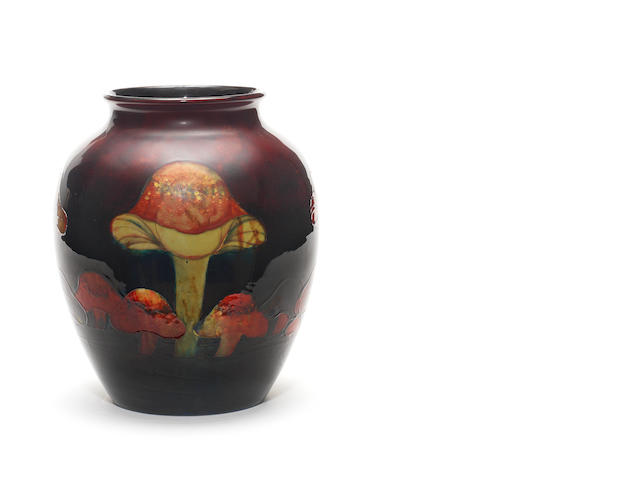 William Moorcroft 'Claremont' a large and impressive flambé Vase, 1928