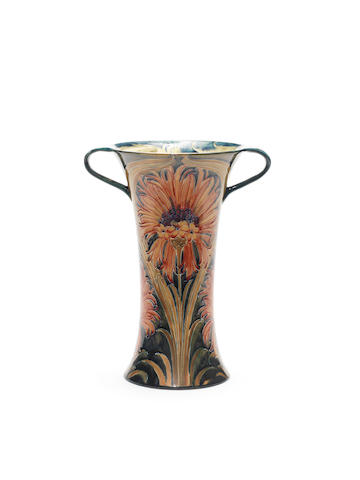 William Moorcroft 'Revived Cornflower' a large twin-handled Vase, circa 1910
