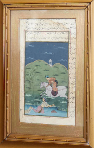 An Indian small painting, 20th Century