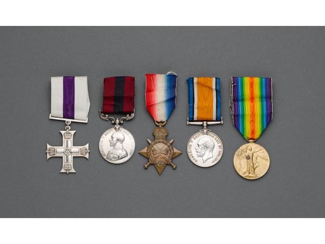 A Great War M.C., D.C.M., group of five to Captain L.M.Milton, Liverpool Regiment,