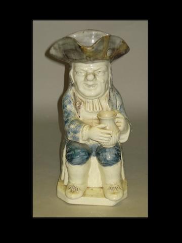 A Wood type 'Ordinary' Toby jug, circa 1790-95