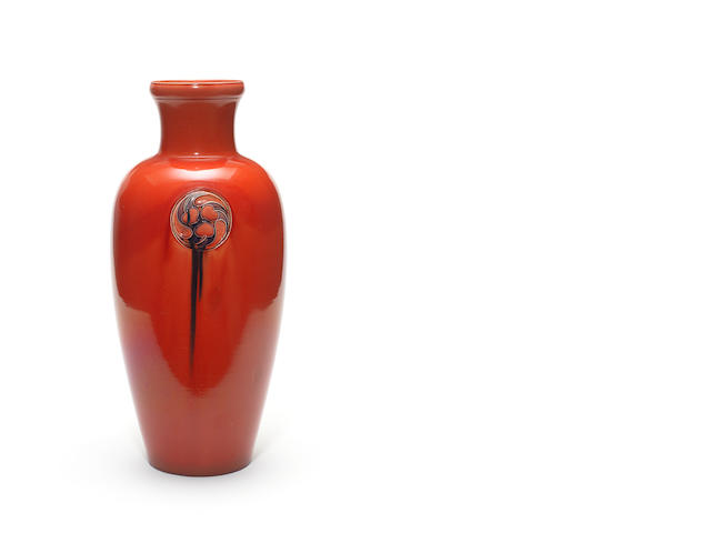William Moorcroft for Liberty & Co.  'Flamminian Ware' a large Vase, circa 1920