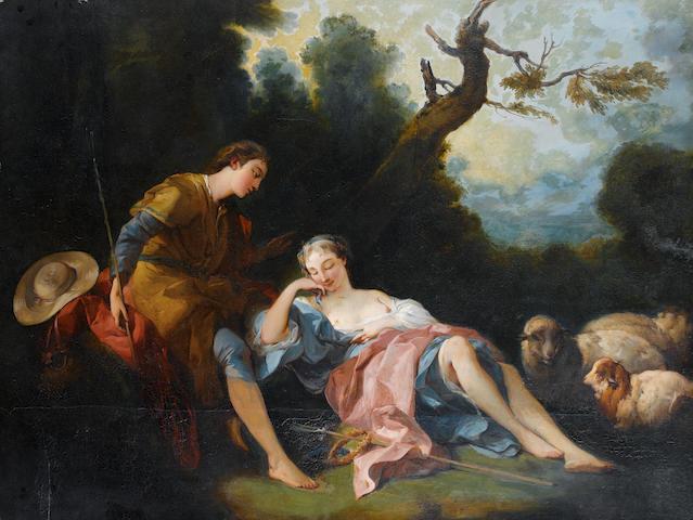 After François Boucher, 19th Century La Bergère Endormie