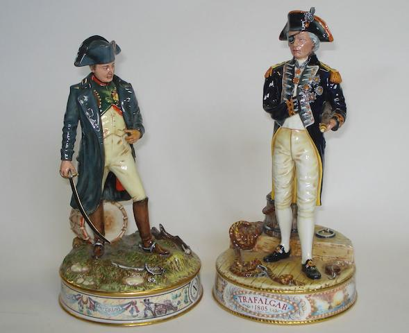 Two Royal Doulton colour trial prototype figures